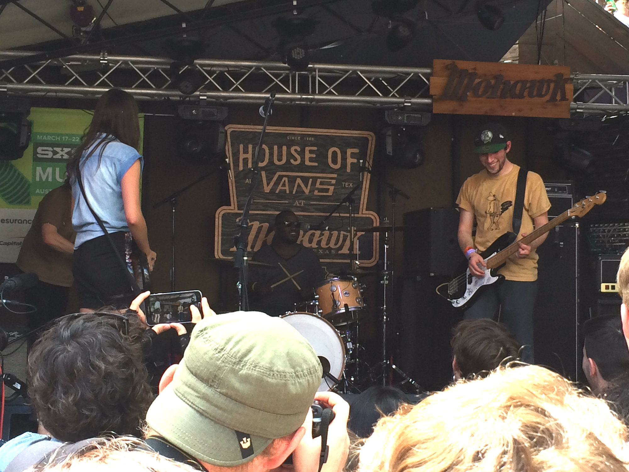 Photo: Speedy Ortiz with Hannibal Buress at SXSW 2015