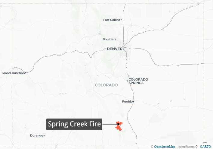 Map: Spring Creek Fire