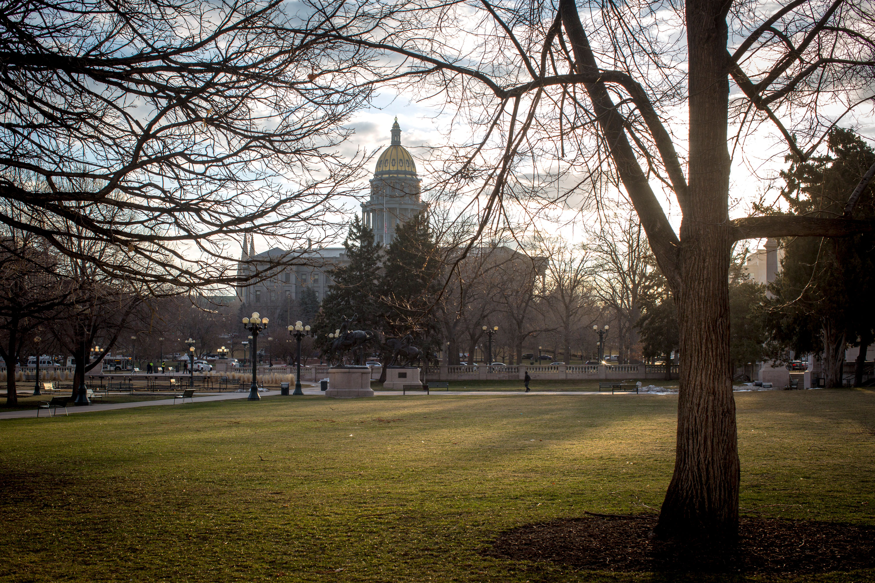 <p>The Colorado state Capitol from Civic Center Park on a March morning 2019. </p>