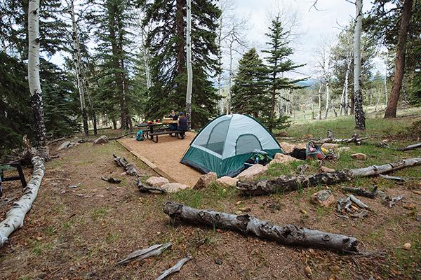 Photo: Backcountry Campsite Staunton State Park