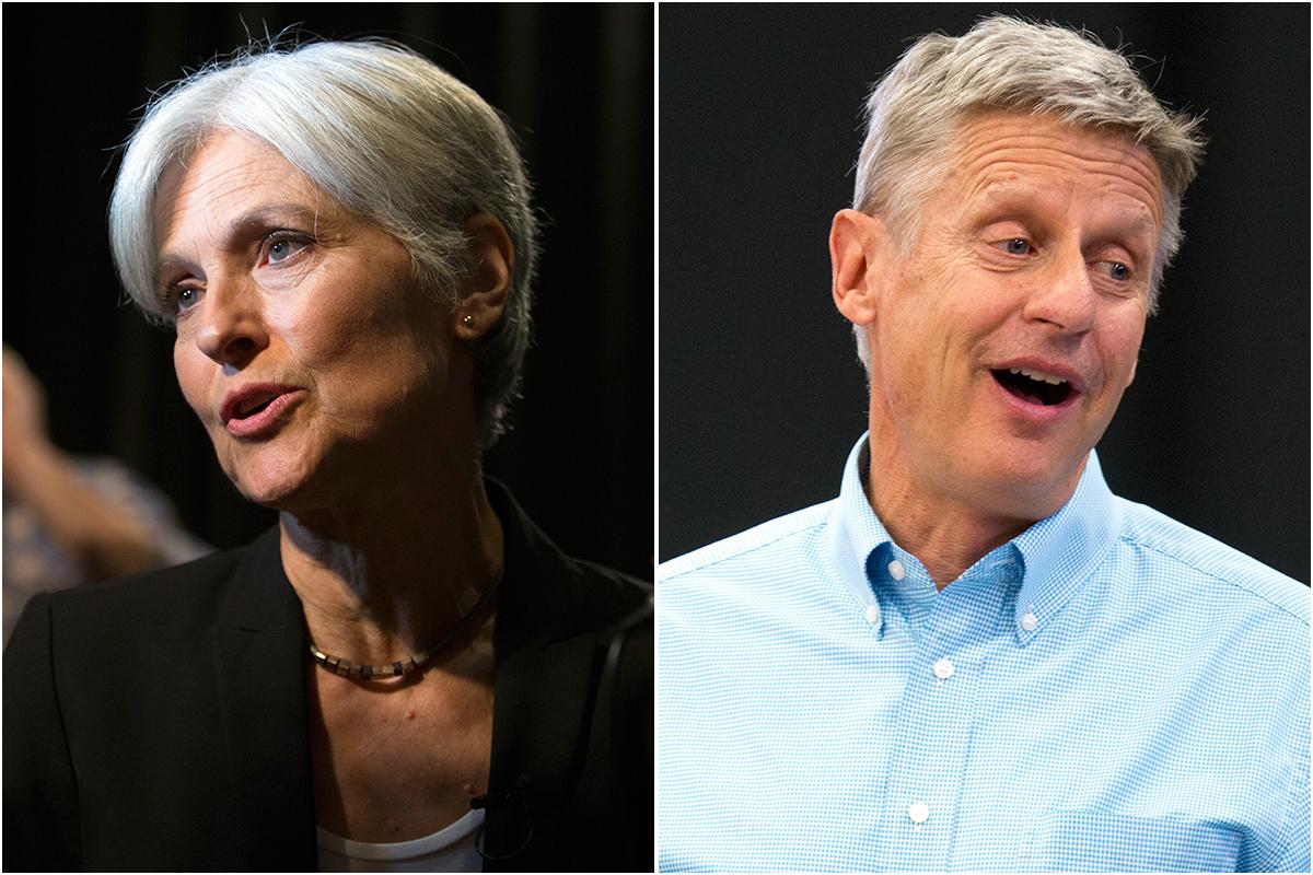 Photos: Jill Stein, Gary Johnson (AP Photos)