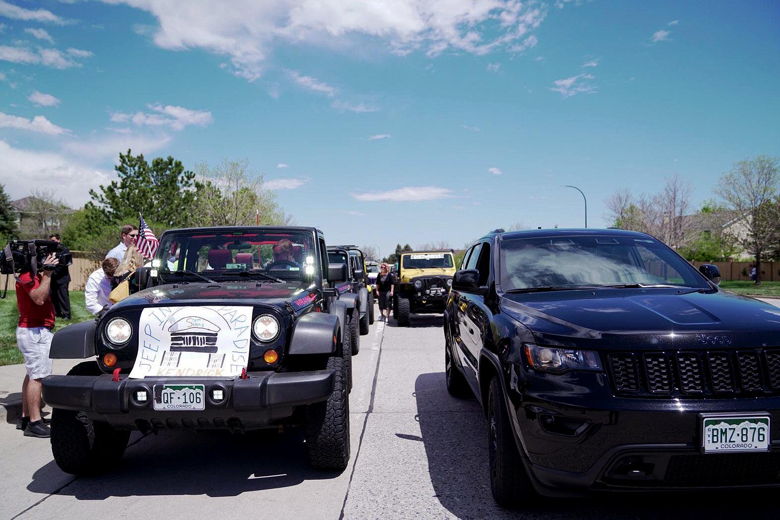 Photo: Kendrick Castillo Celebration of Life | Jeep Procession