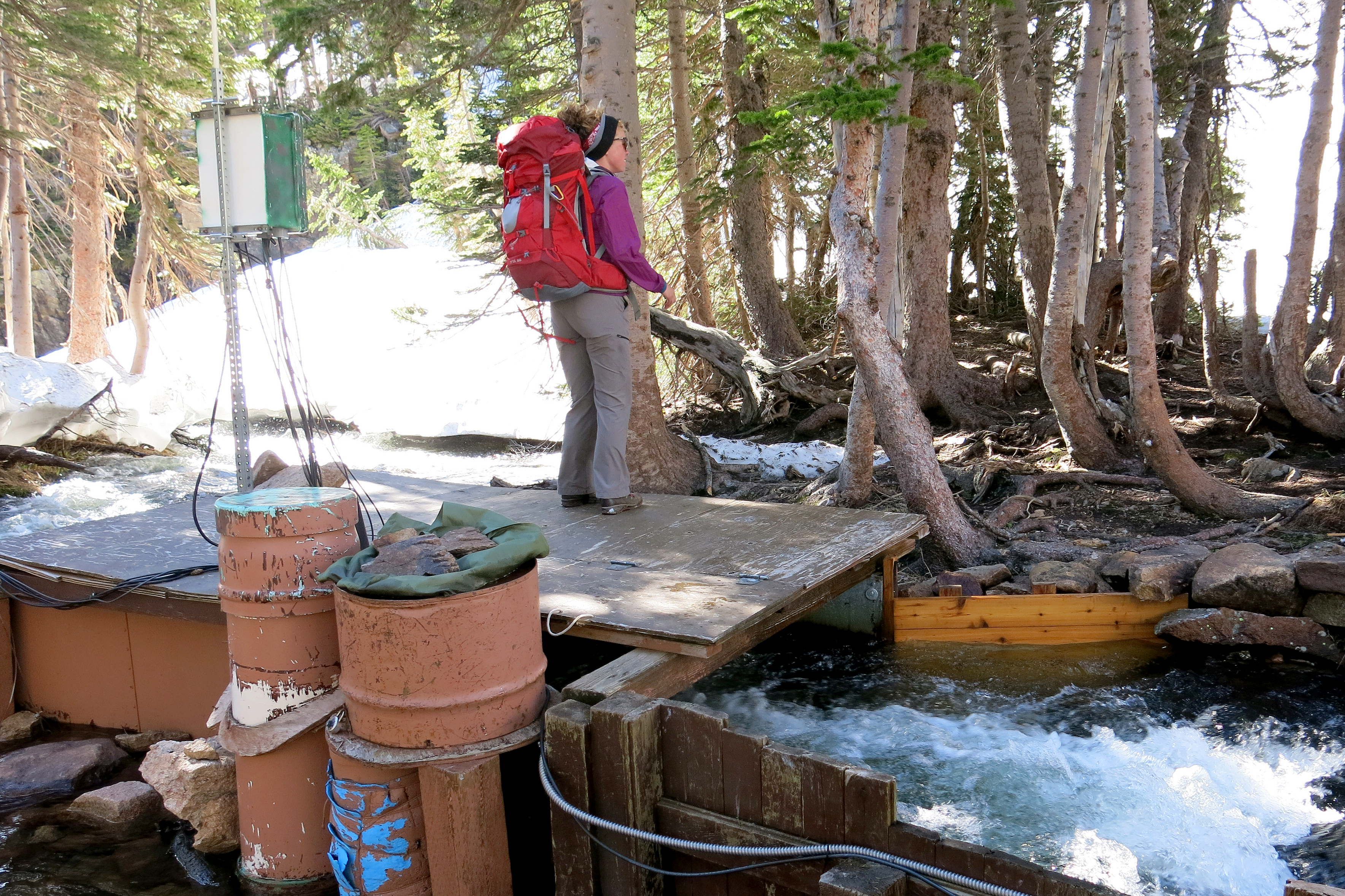 Photo: Climate Change, Rocky Mountain National Park, Jill Baron Team Stream Gauge