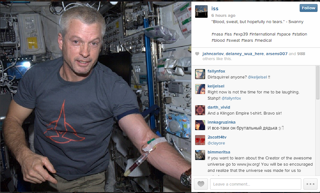 Photo: Colorado astronaut sends photos from space through social media