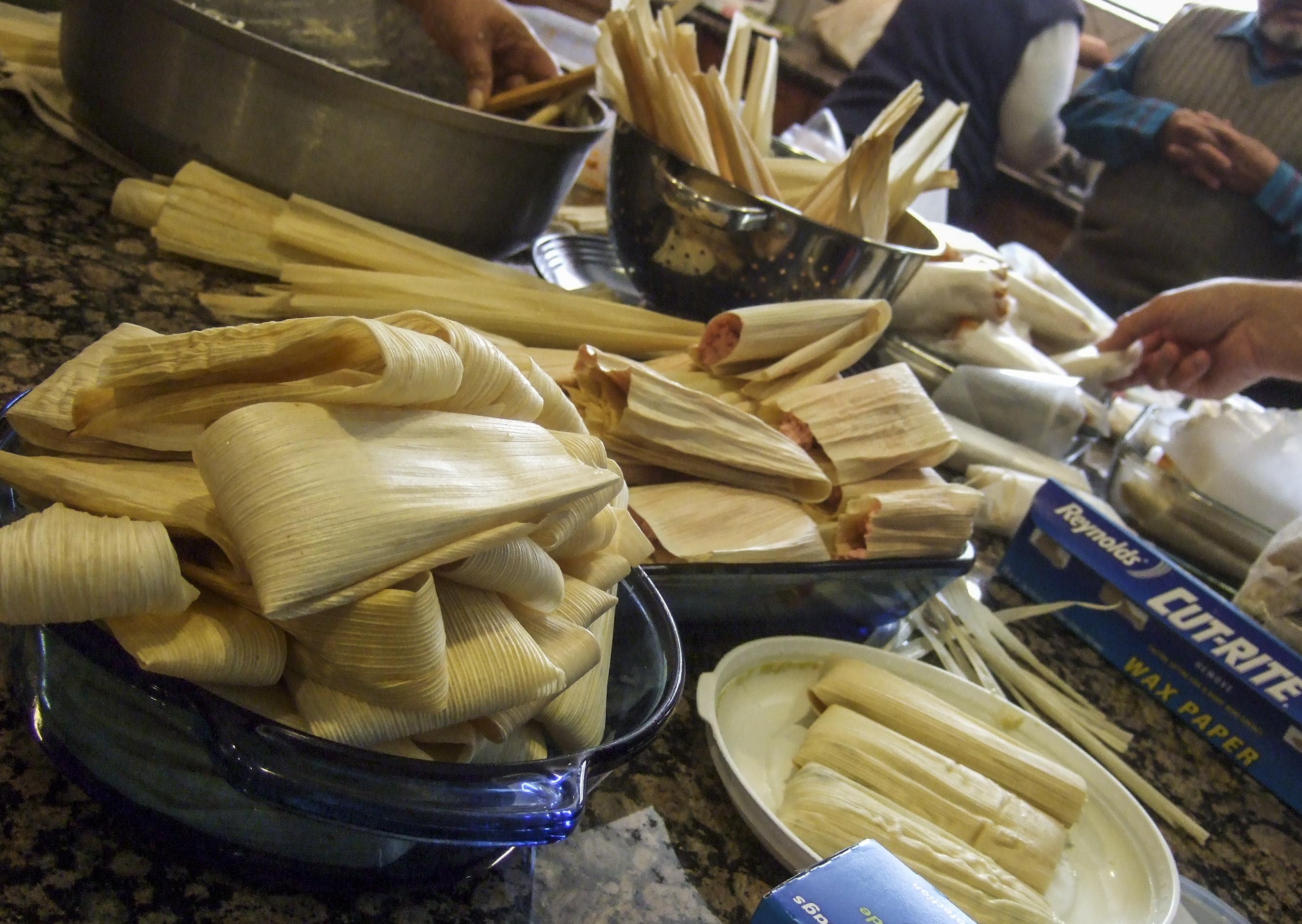 Photo: Making tamales