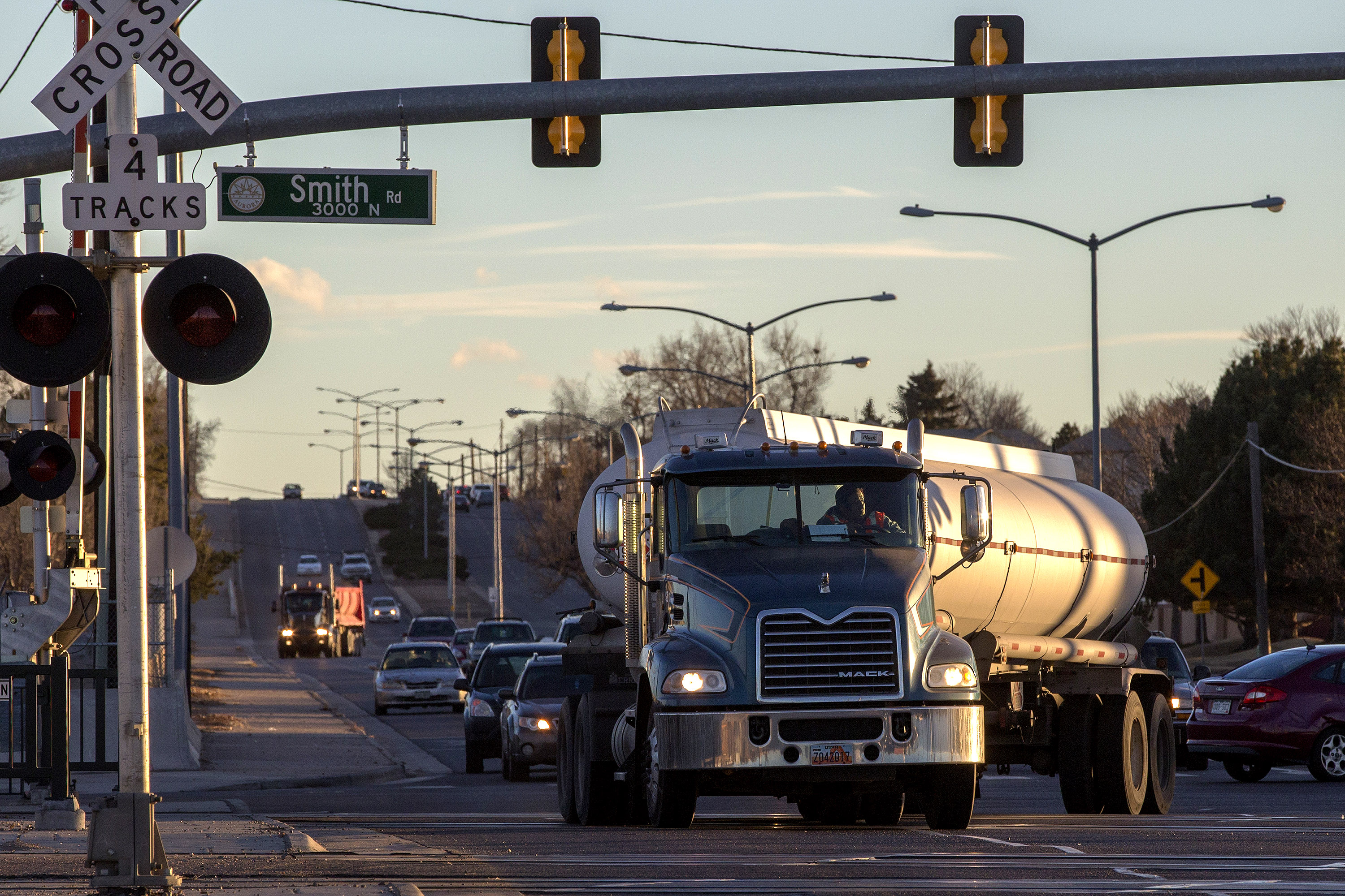 Hazmat Truckers Say This Aurora RTD A Line Crossing Is An
