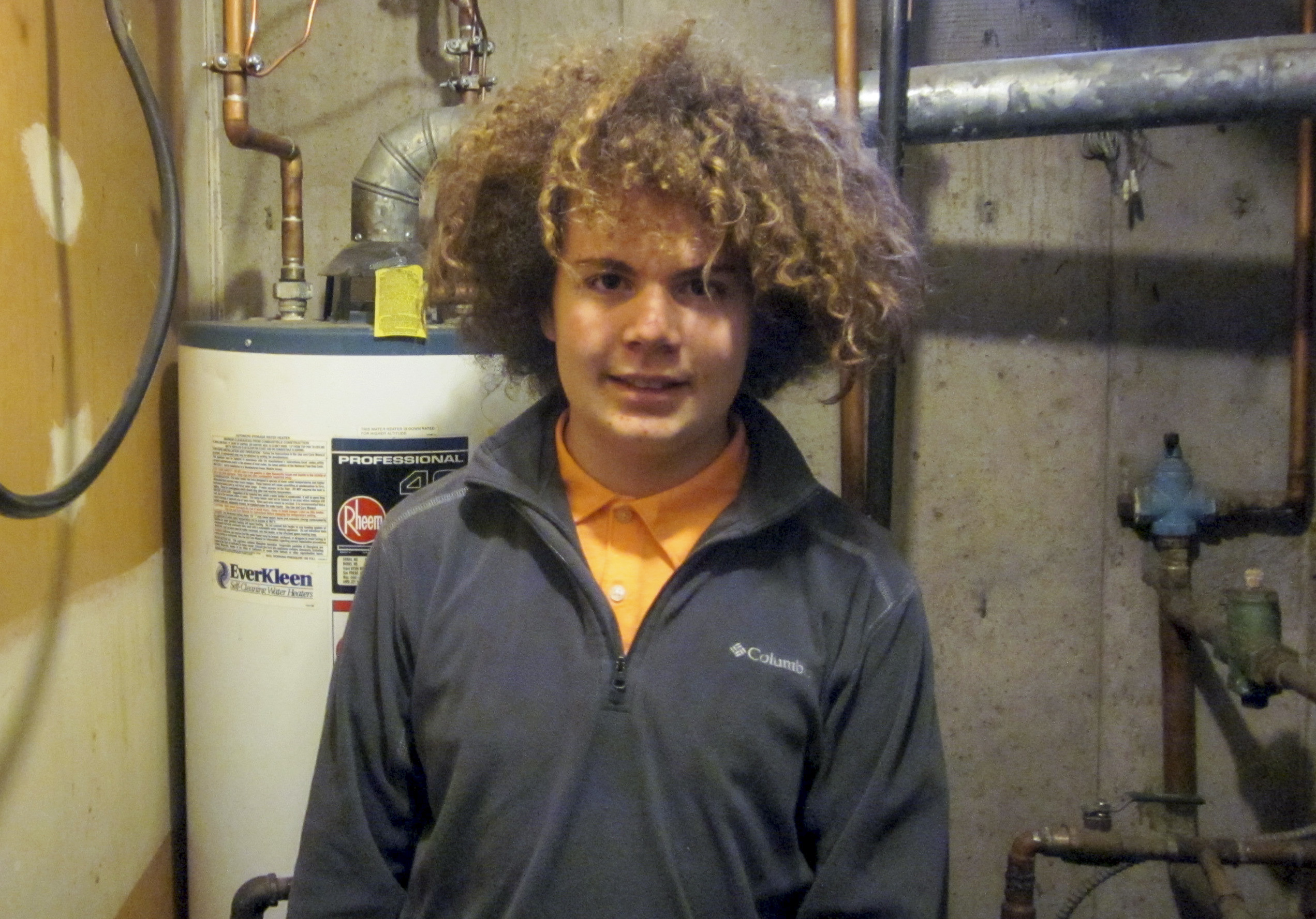 Photo: Mackintosh Academy 4 | Student near water heater