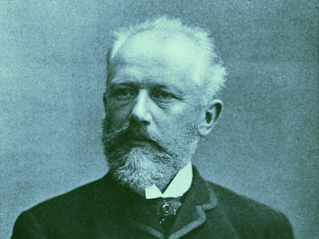 Photo: Tchaikovsky blue duotone