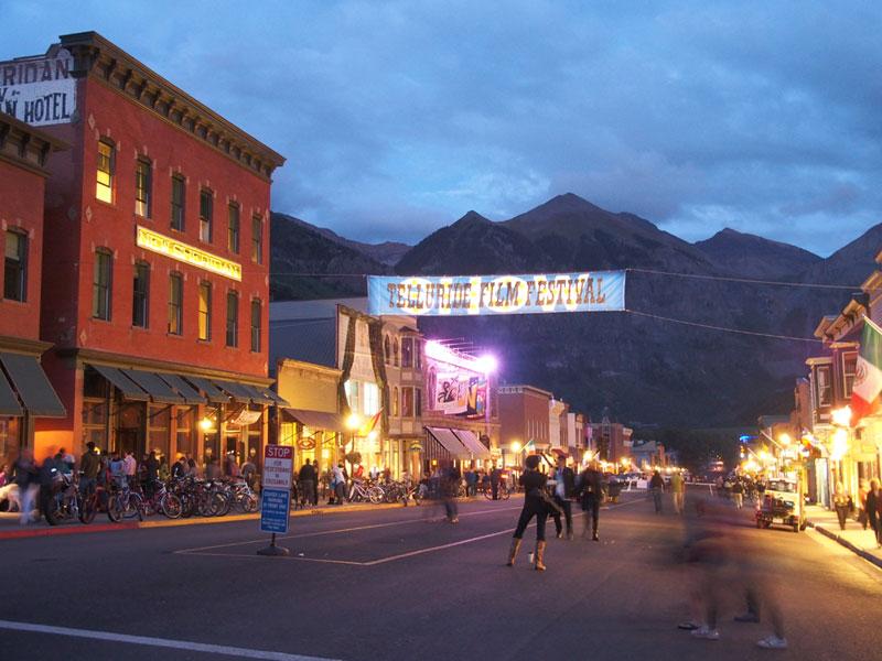 Main Street during a past Telluride Film Festival.