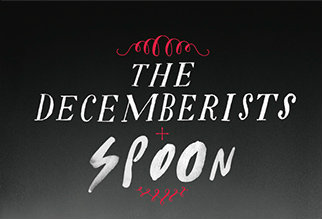 photo: The Decemberists / Spoon at Red Rocks poster