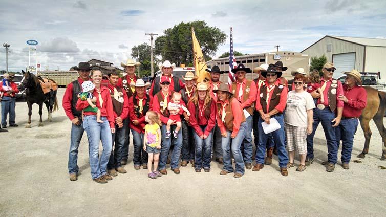 Photo: Pony Express Memorial Riders, Kansas
