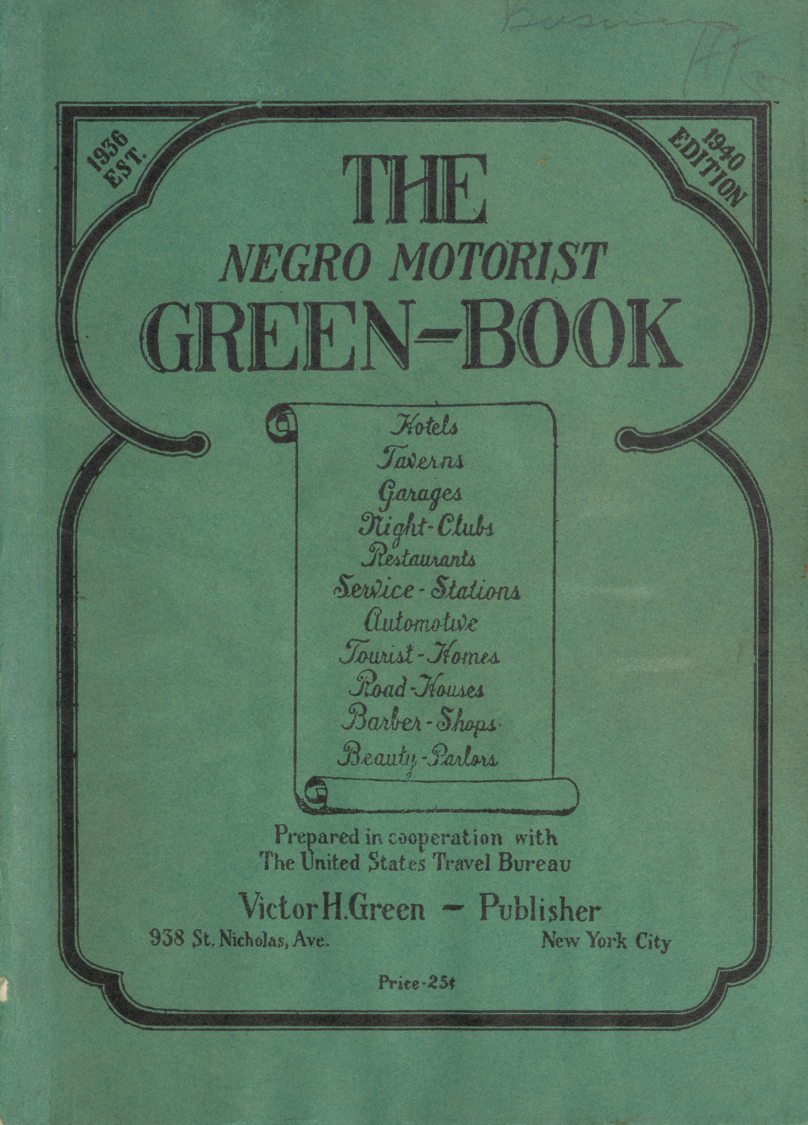 Photo: Green Book Cover