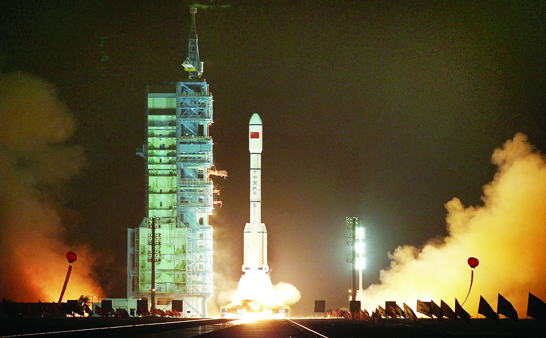 Photo: Tiangong-1 Rocket Lift Off