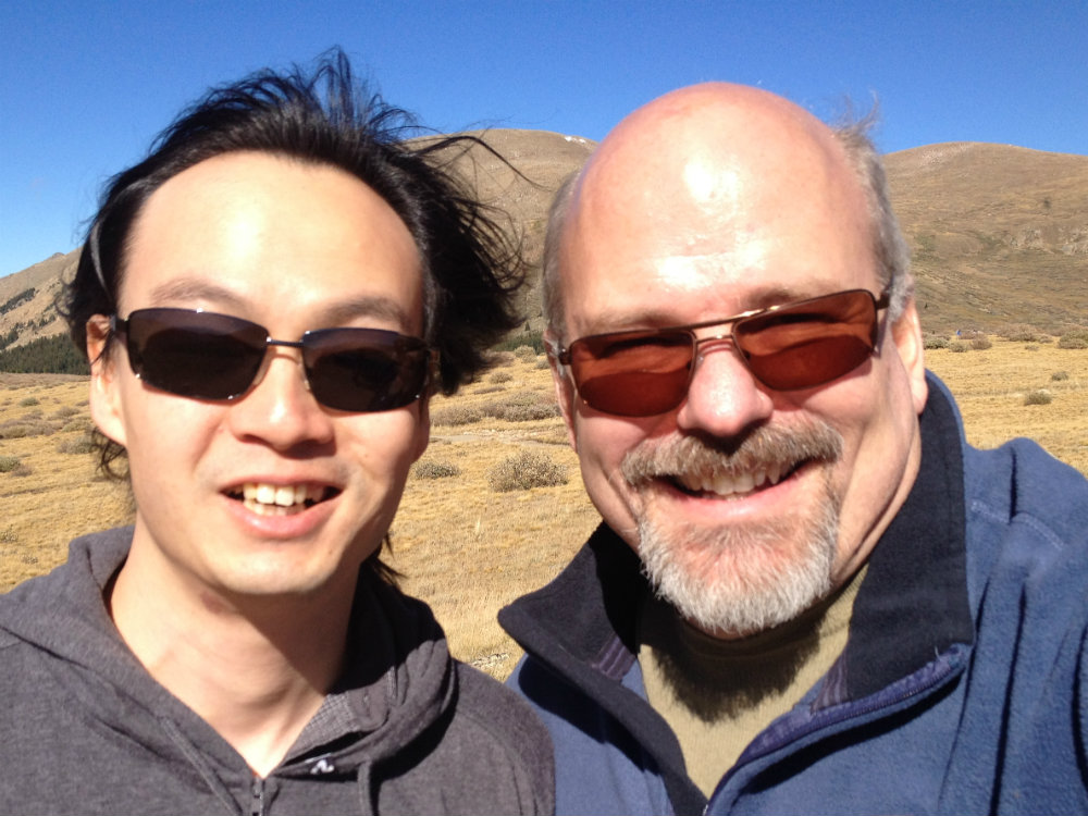 Photo: Composer Christopher Tin with David Rutherford