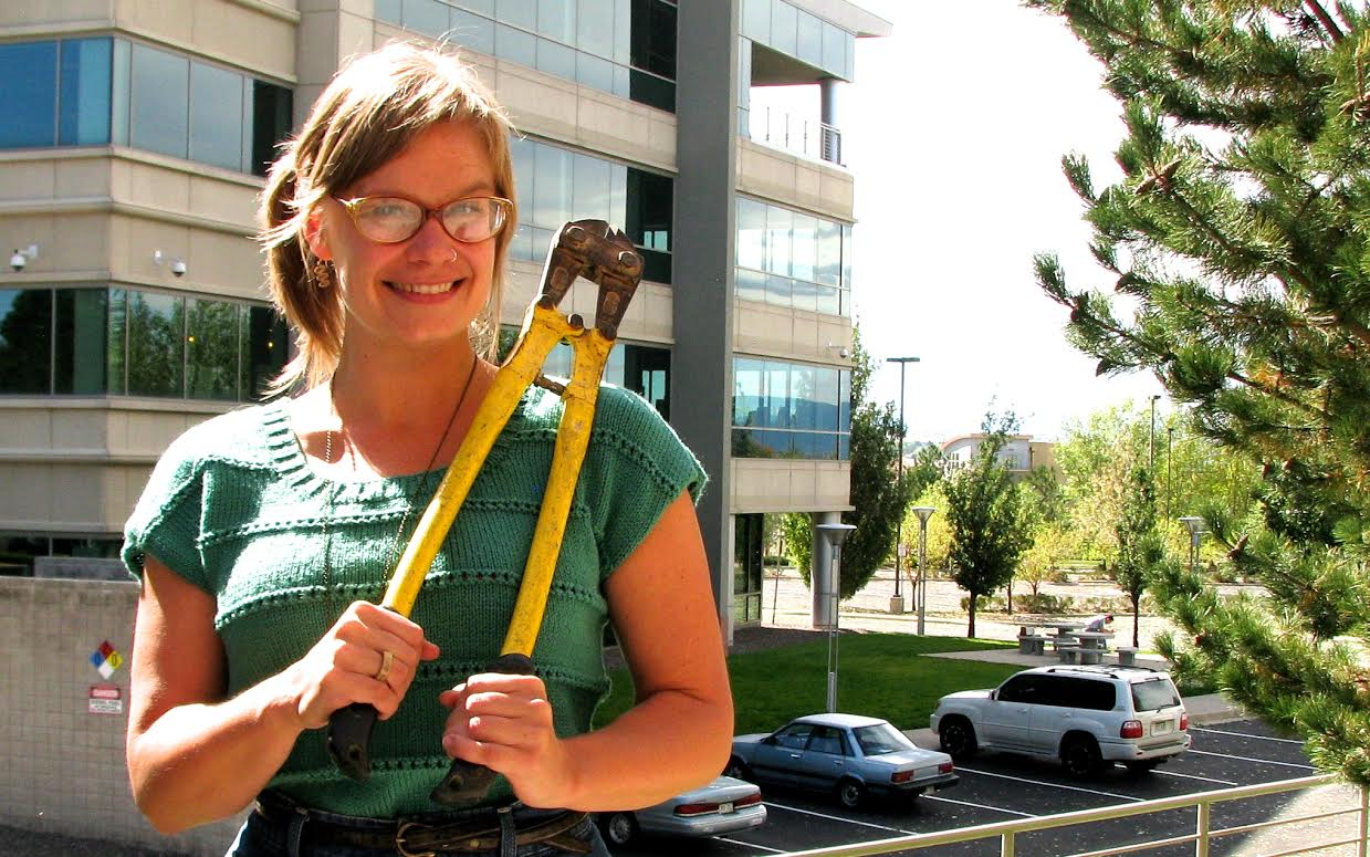 Photo: Denver Tool Library founder Sarah Steiner
