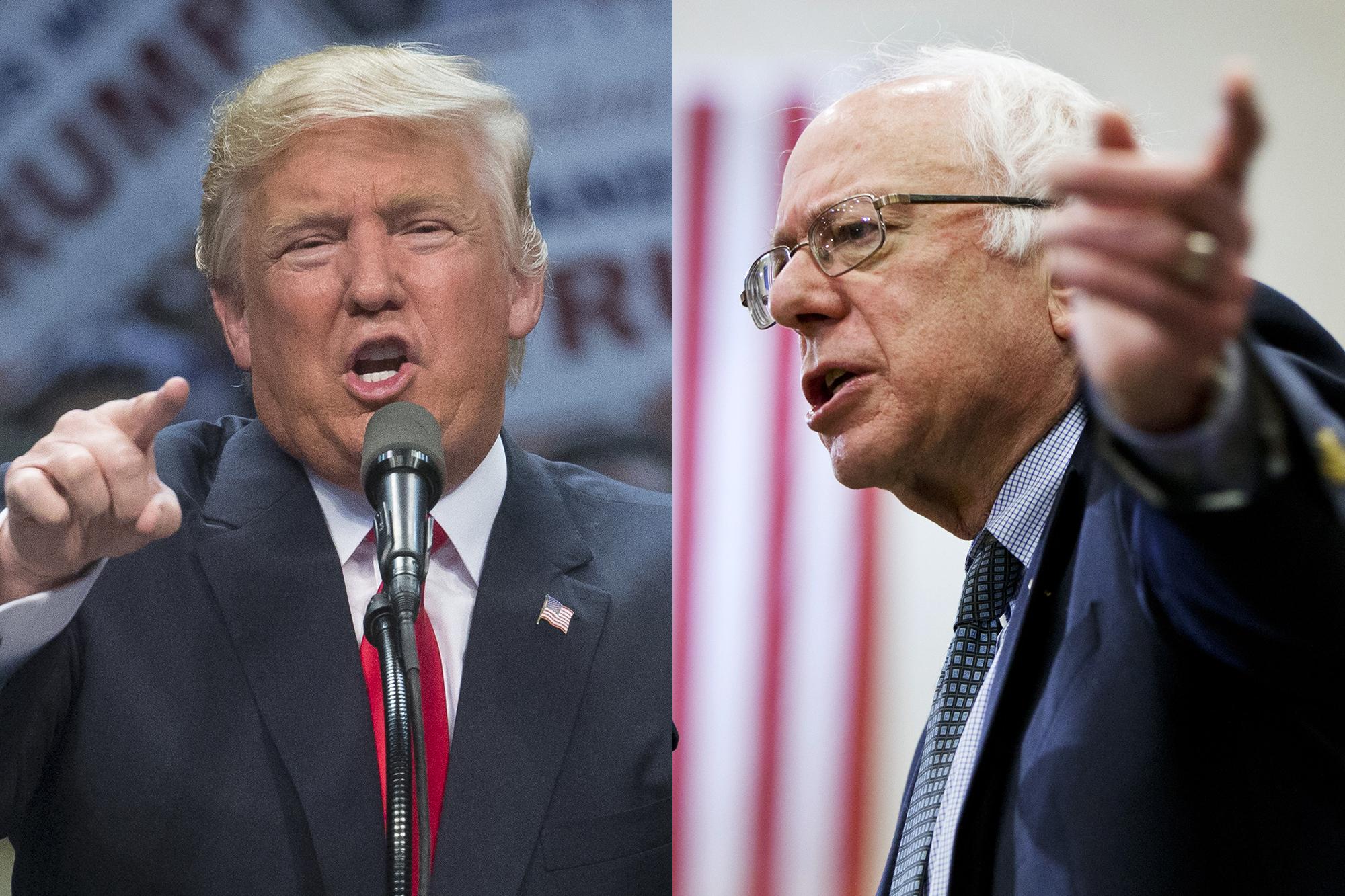 Photo: Trump, Sanders Montage, Trade