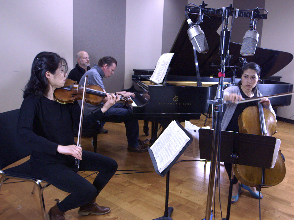 Photo: Trio con Brio Copenhagen in the CPR Performance Studio