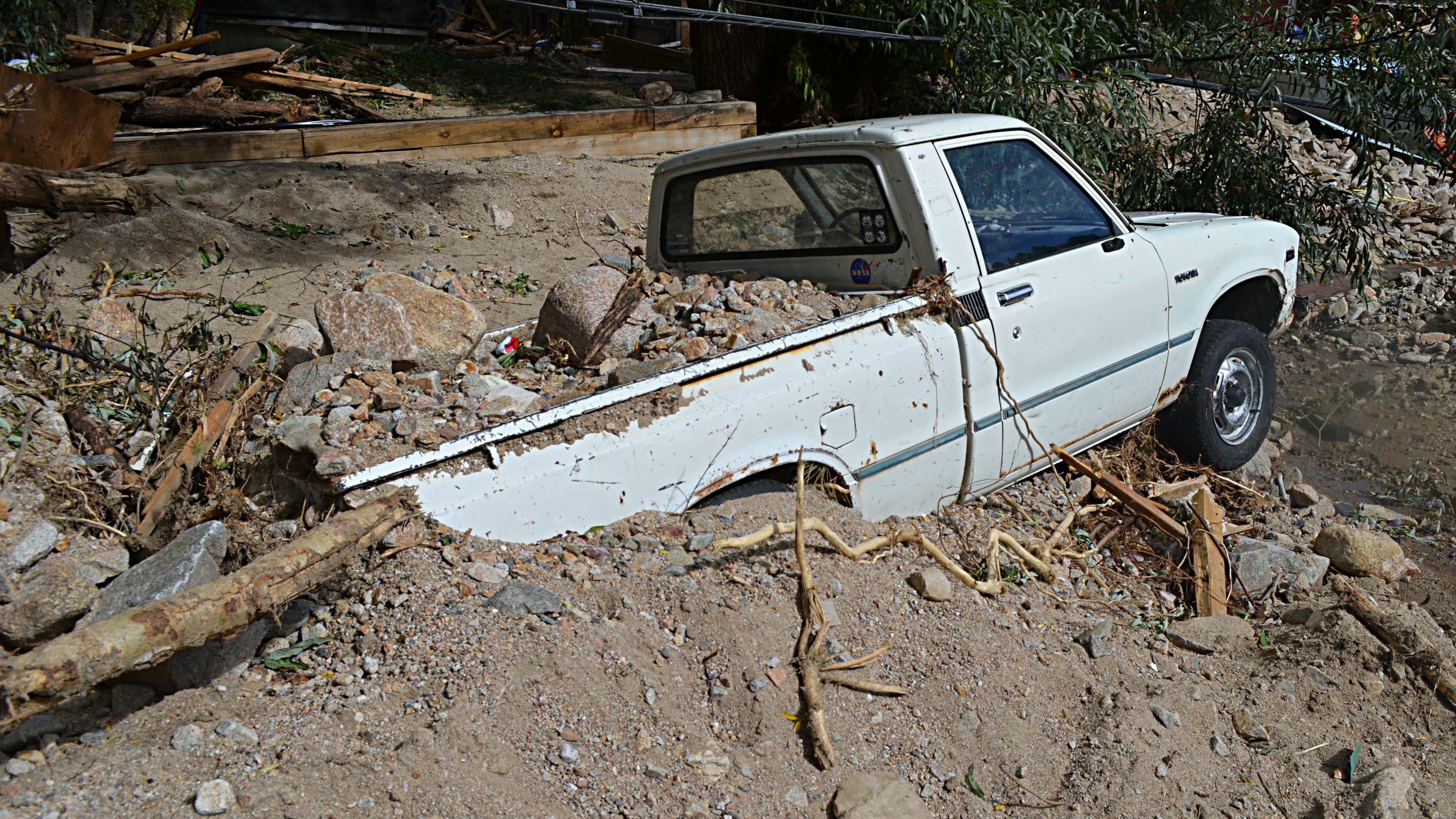 Photo: Jamestown truck buried
