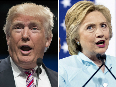Photo: Trump And Clinton 2 Shot (AP File)