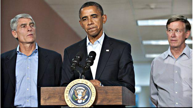 Photo: Udall and Obama visiting Aurora victims