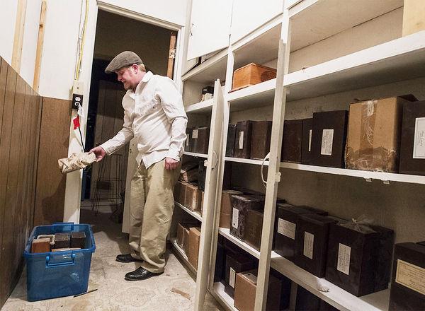 Photo: Rose Memorial Parlour owner Matthew Boyle, Cremation Remains