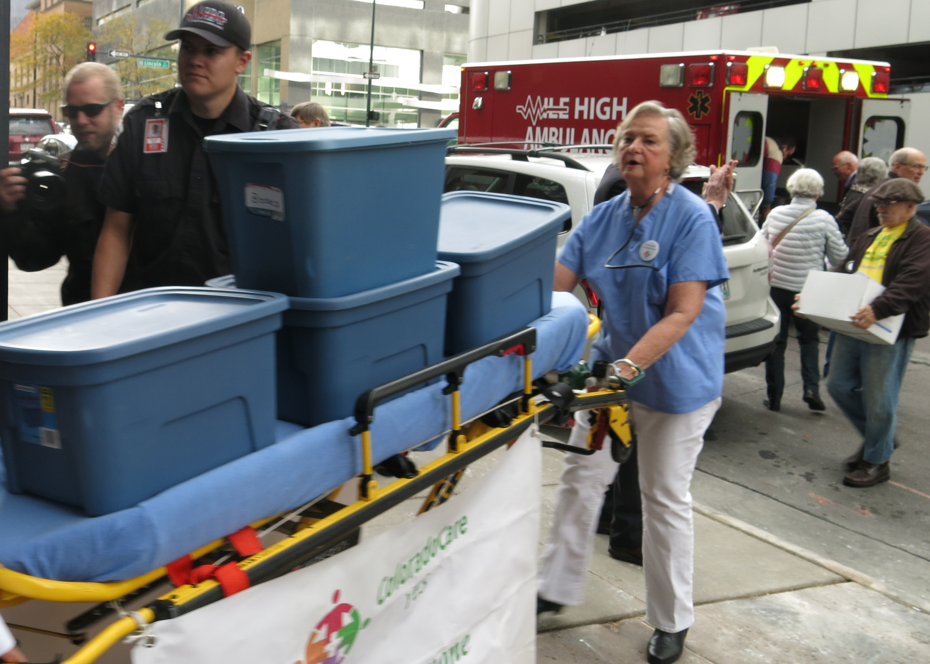 Photo: Universal Healthcare Ballot Delivery Ambulance