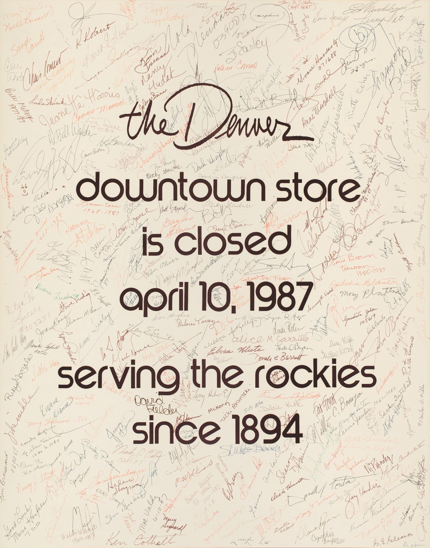 Photo: Denver Dry Goods Store Closes 1980s