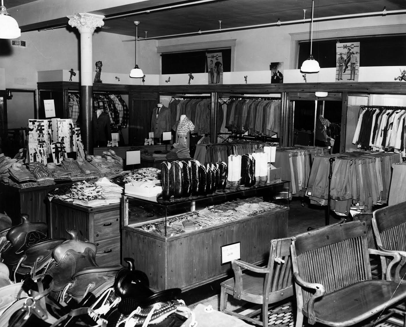 Photo: Denver Dry Goods Store Western Wear 1950s