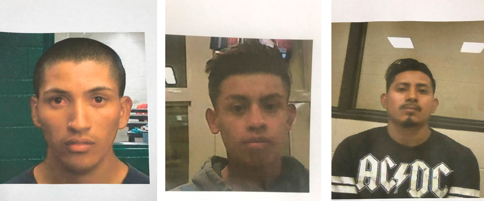 <p>18-year-old Douglas Amaya Arriaga from Honduras,18-year-old Carlos Perez-Rodriguez from Honduras and23-year-old Amilcar Aguilar-Hernandez from El Salvador.</p>
