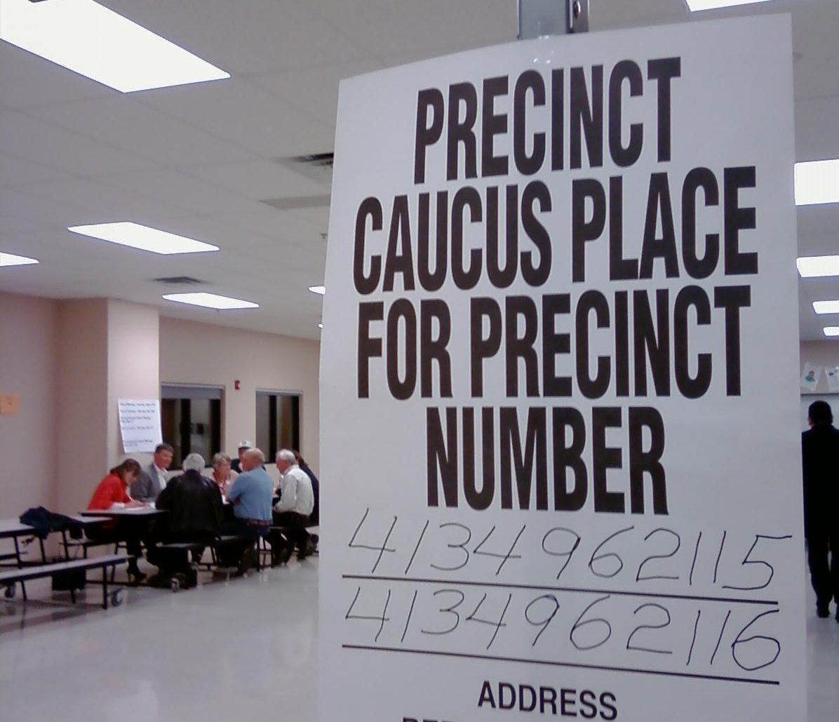 Photo: caucus voting election