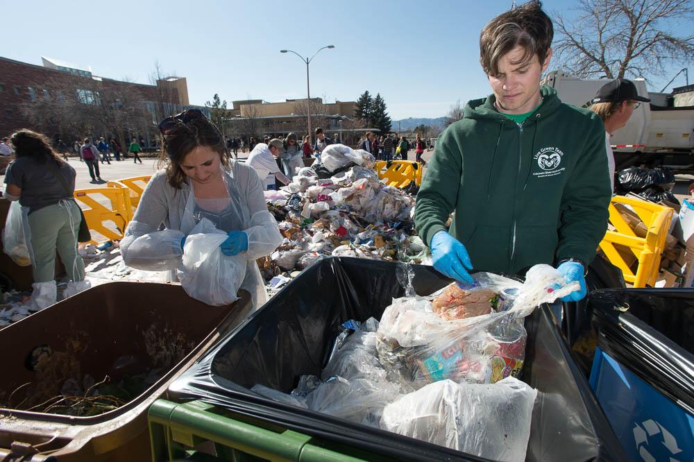 photo: waste audit Colorado State University 2