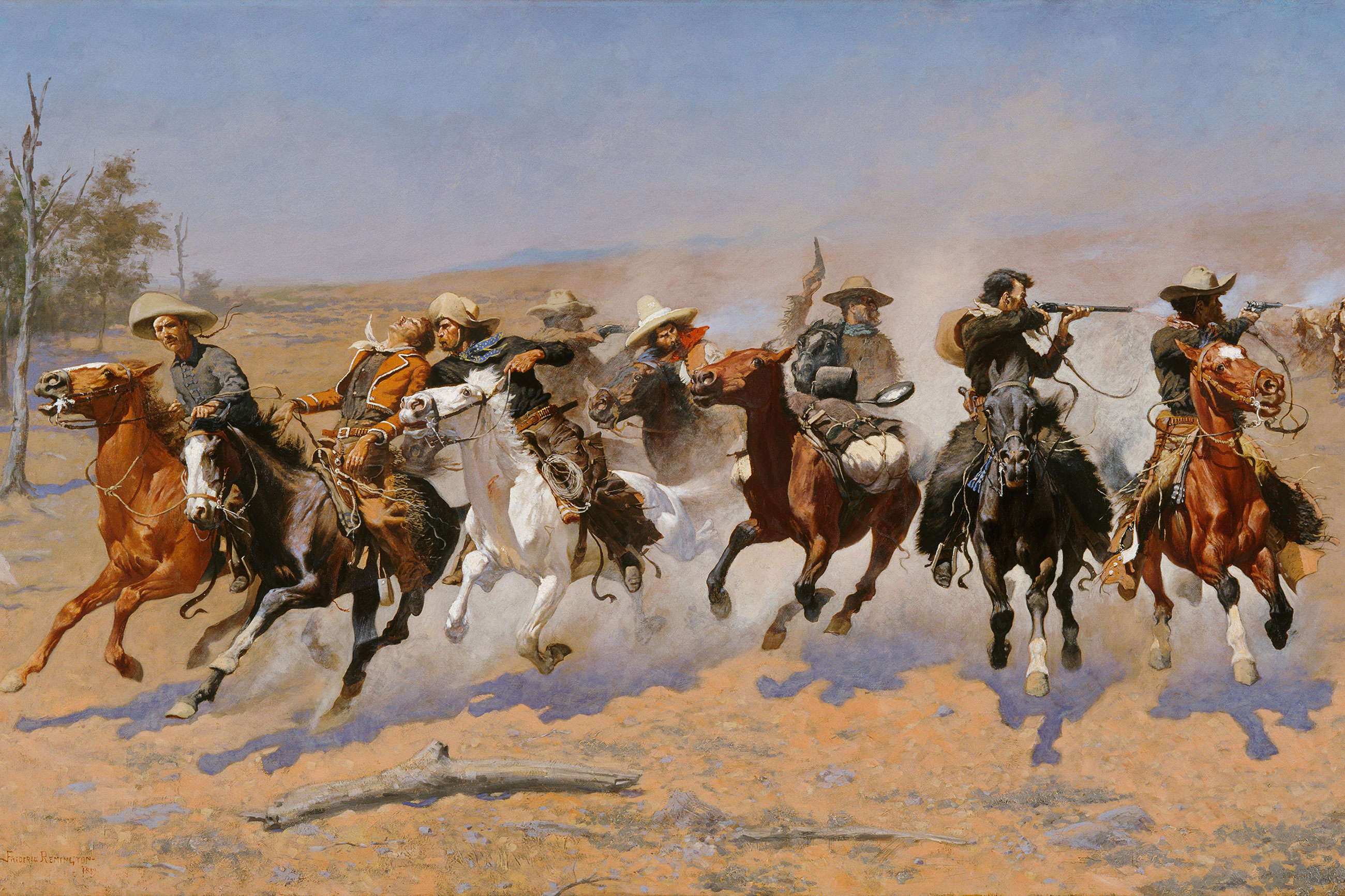 Photo: The Western Exhibit 2 | Dash For Timber Painting - Frederic Remington