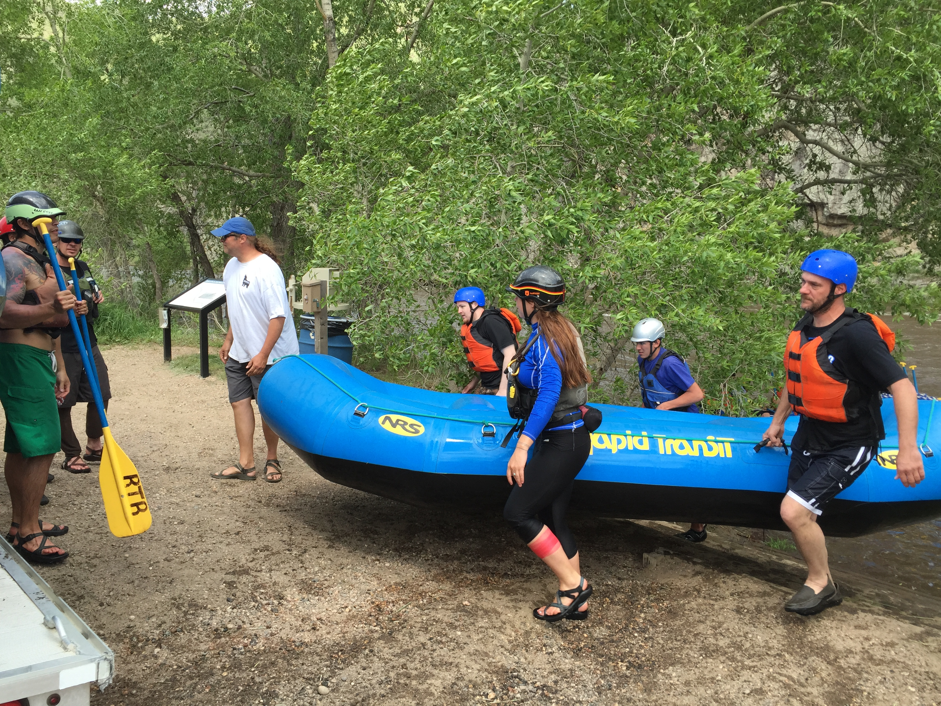 Photo: Whitewater rafters on Cache La Poudre River