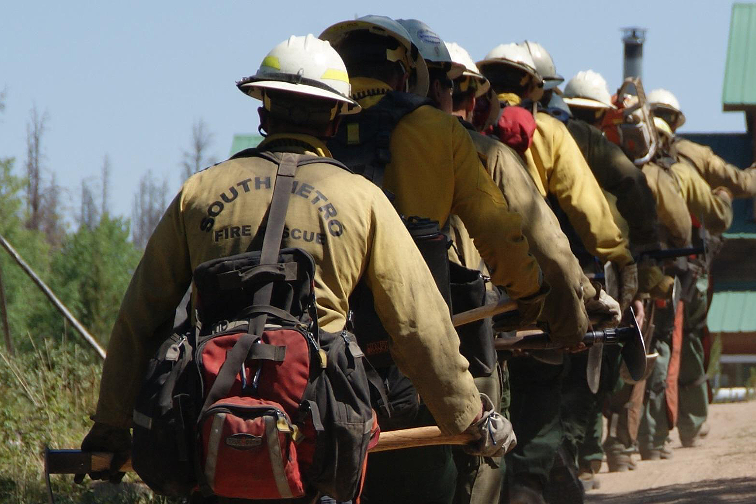 Photo: Wildfire Fighters, Beaver Creek Fire, Walden, 2016 USFS