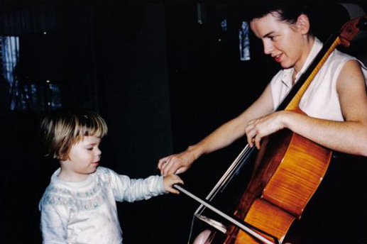 Photo: Young Marin Alsop with her mother