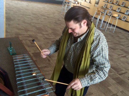 Photo: Jean-Marie Zeitouni and marimba