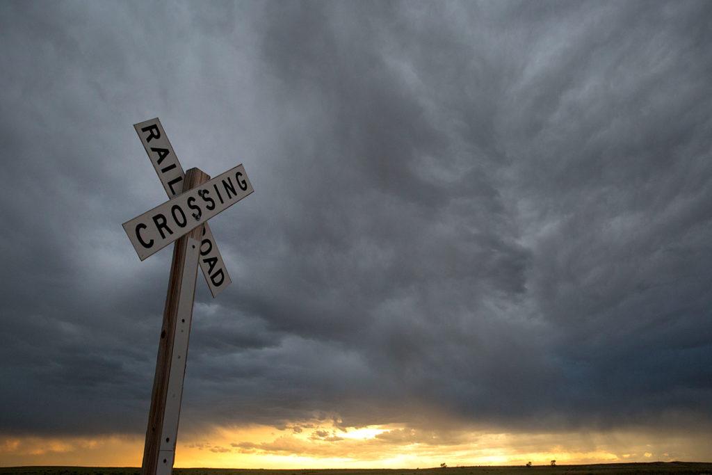 Rail Road Crossing Near Deer Trail