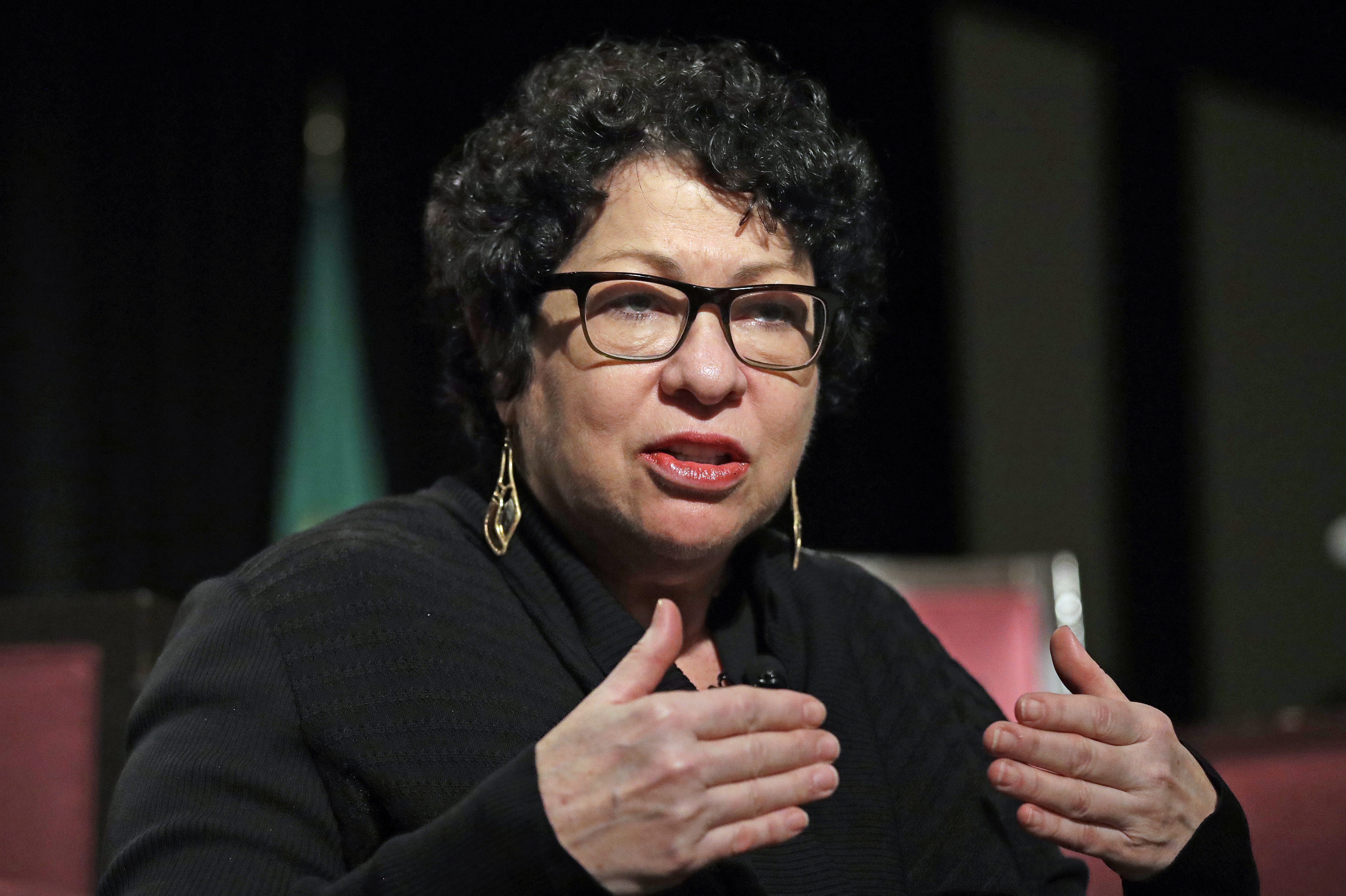 Supreme Court Justice Sonia Sotomayor speaks at a civics event in January in Seattle.