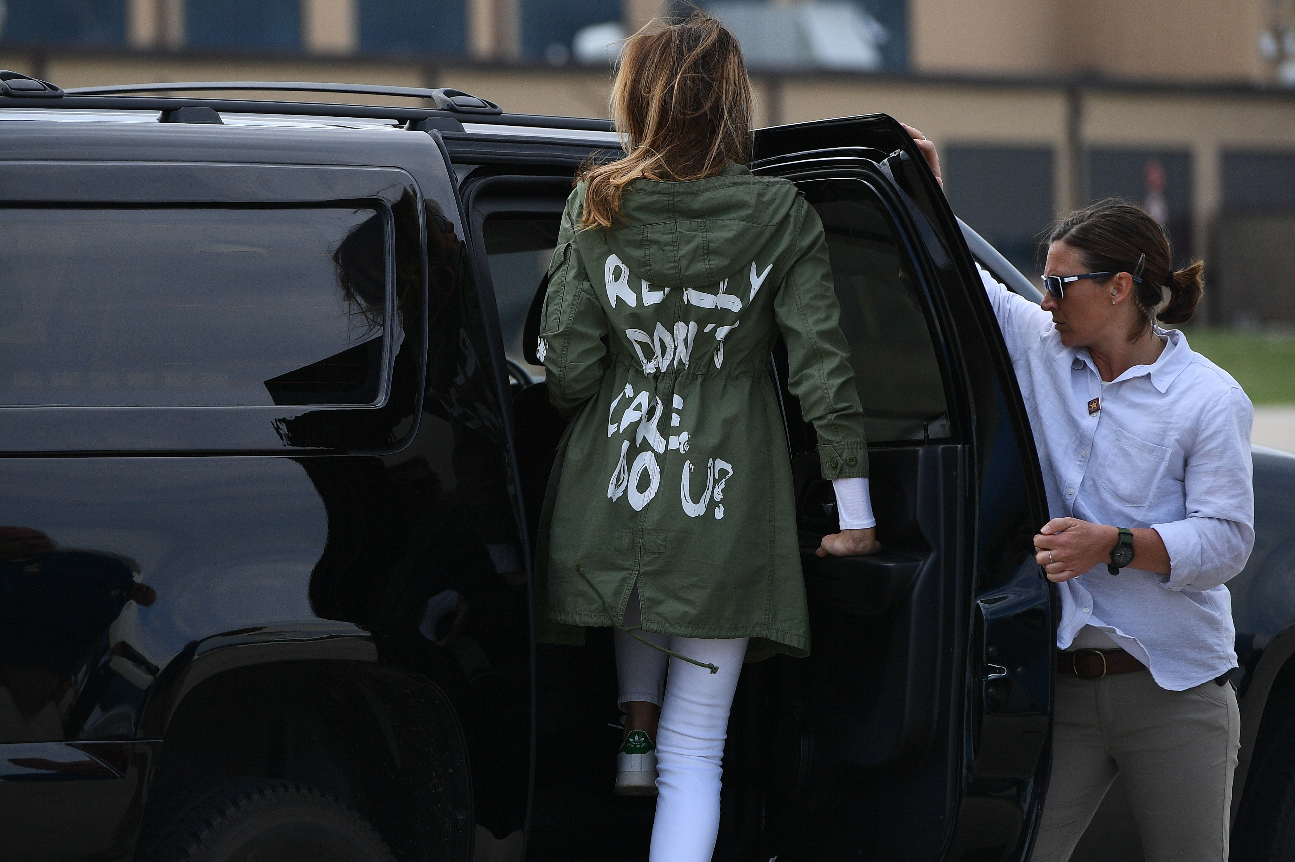 This Jacket Caused A Racket What Exactly Does Melania Trump Not Care About Colorado Public Radio