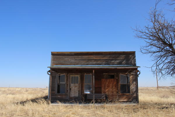 The home of O.T. Jackson, the founder of Dearfield, Colo., sits on the town site in rural Weld County. It's one of the few remaining structures.