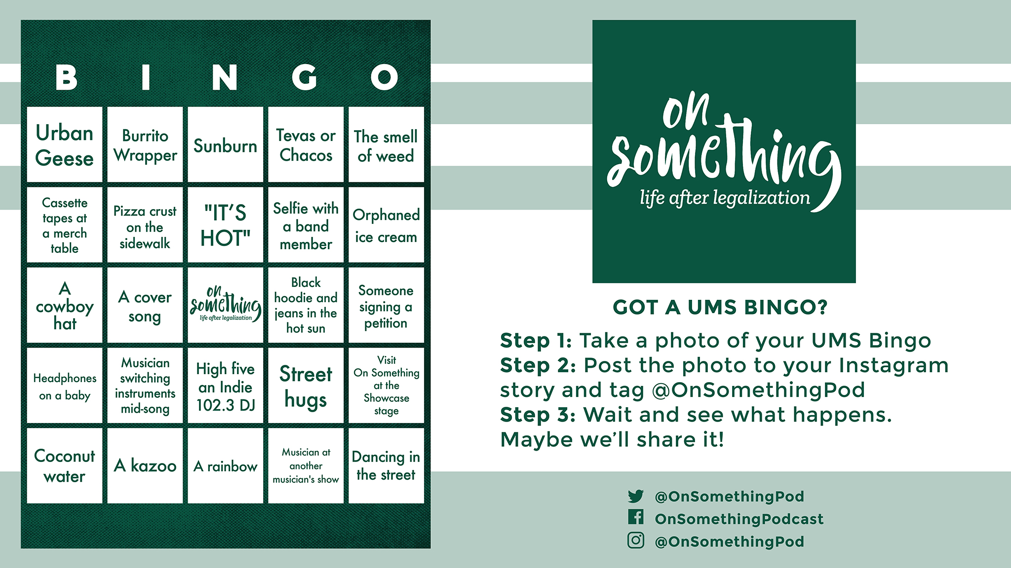 Going to UMS? Great! We made this Bingo card for you to use while you're there.