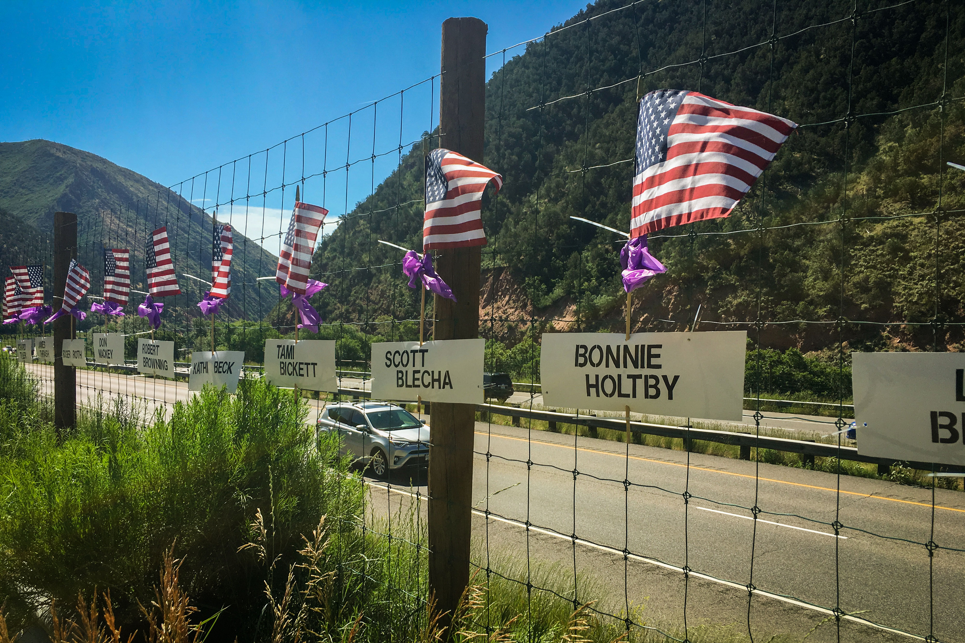 Storm King 25th Anniversary Memorial Flags