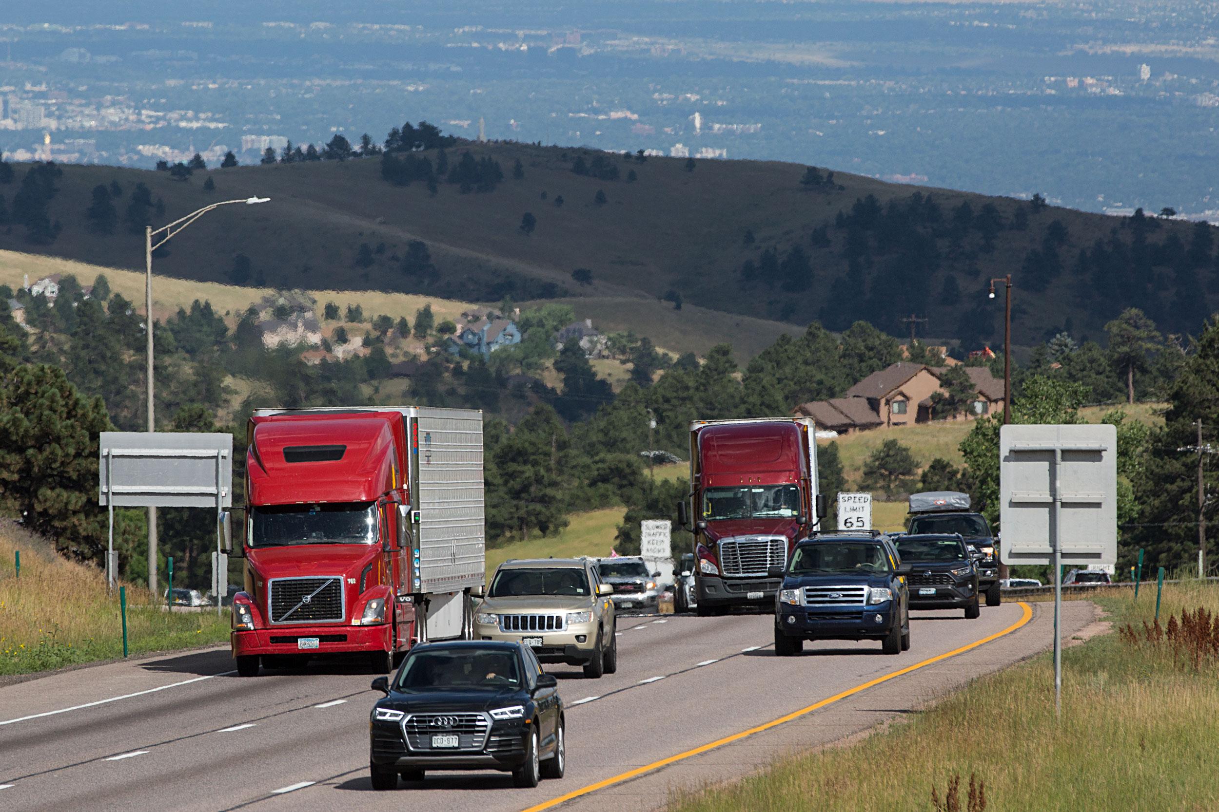 Interstate 70 Traffic Mt. Vernon Canyon