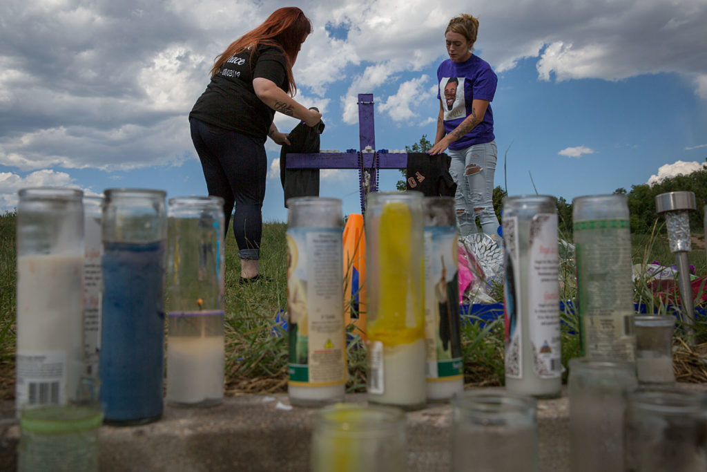 De'von Bailey Police Shooting Memorial Mourners Colorado Springs