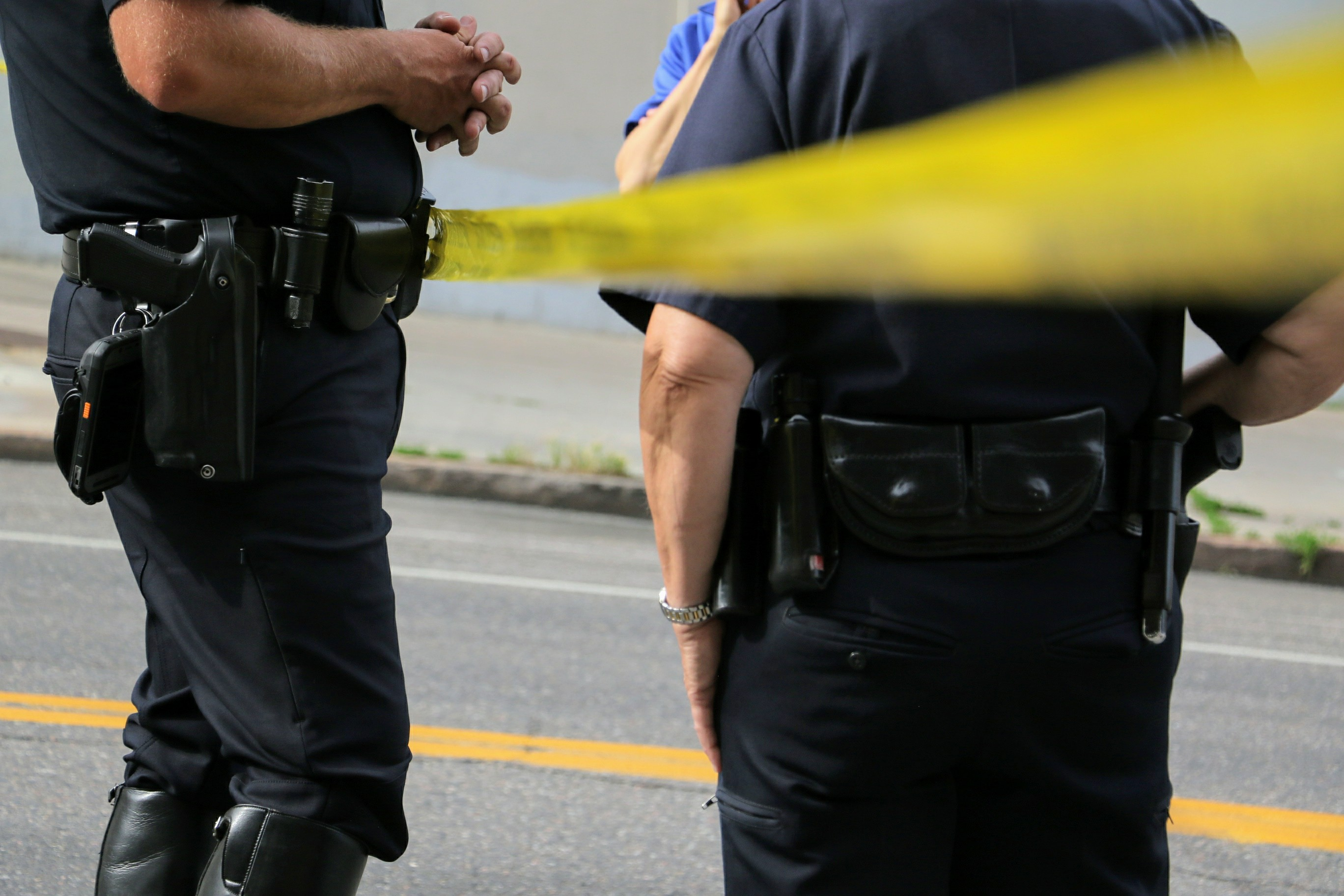 A file image of a police investigation.