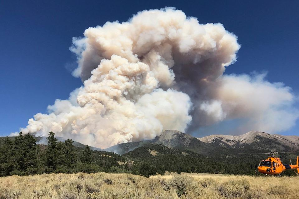 The Decker Fire on Sunday, Sept. 15, 2019.