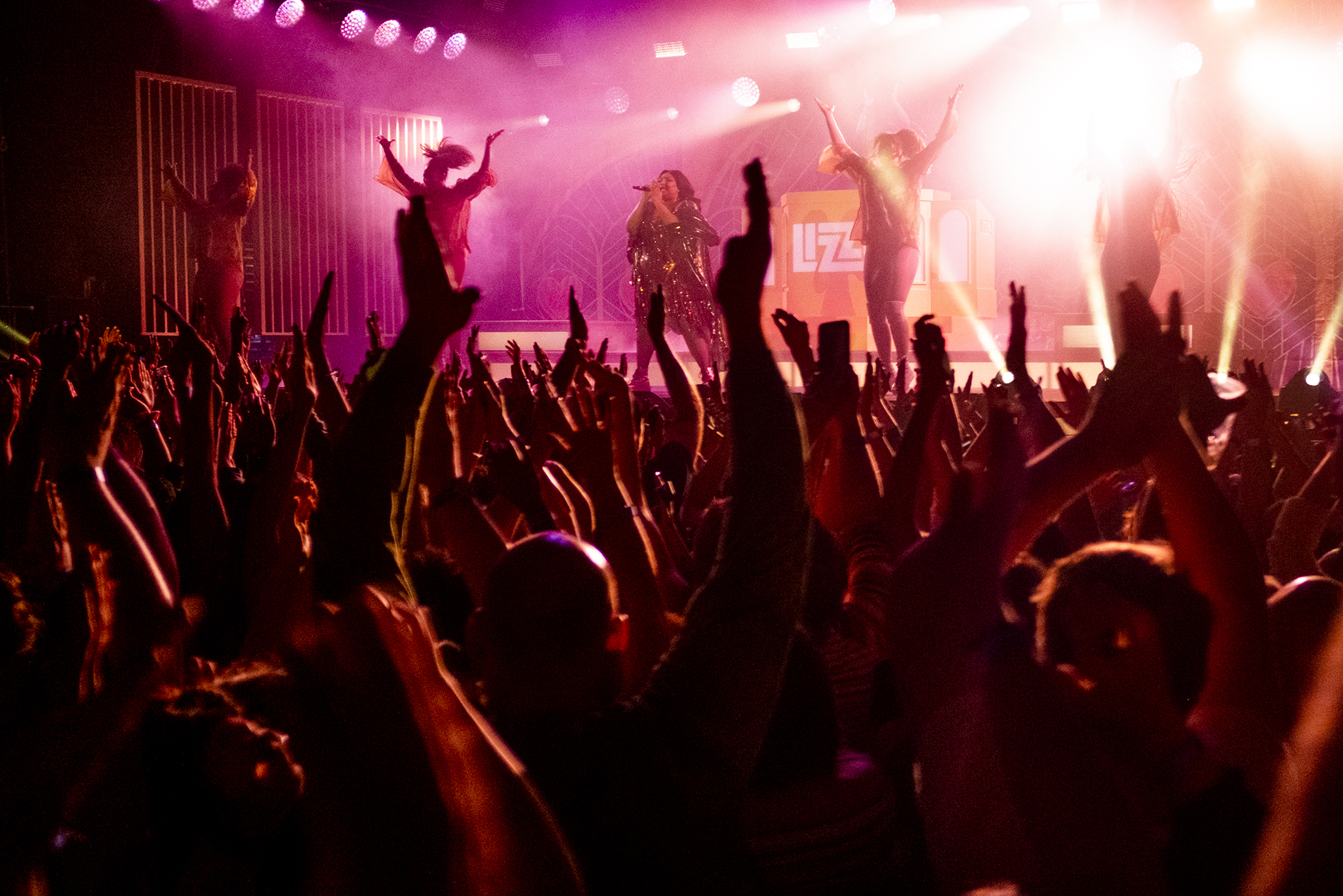 Lizzo plays the Fillmore on Colfax Avenue. Oct. 15, 2019. (Kevin J. Beaty/Denverite)