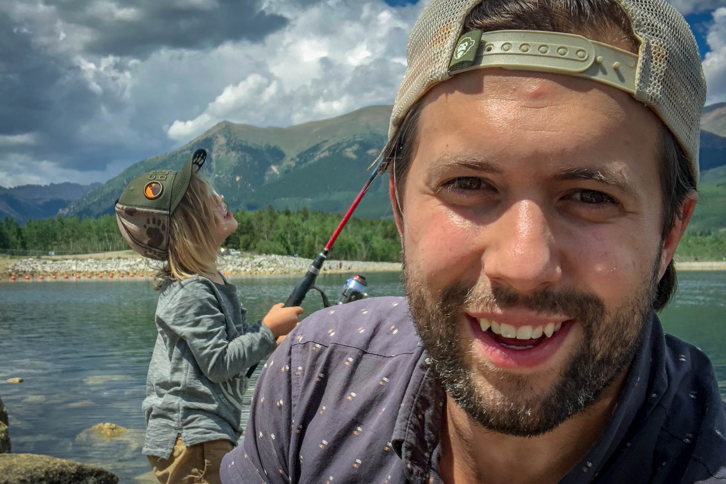 Kyle Forti and his son on a fishing trip in 2018. Forti was killed March 3, 2019 in a helicopter crash in Kenya along with three other Americans and the Kenyan pilot.