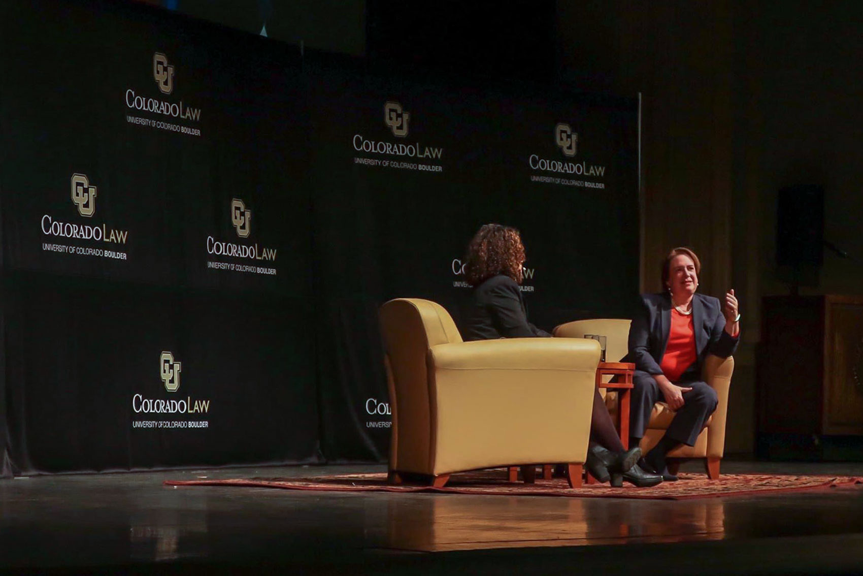 Elena Kagan delivers the 8th annual Stevens Lecture at the University of Colorado Boulder on Tuesday, Oct. 22, 2019.