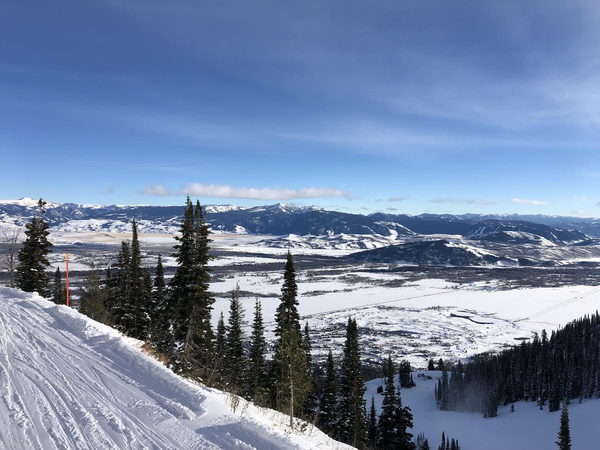 View of Teton Village from Jackson Hole Mountain Resort's aerial tramway.